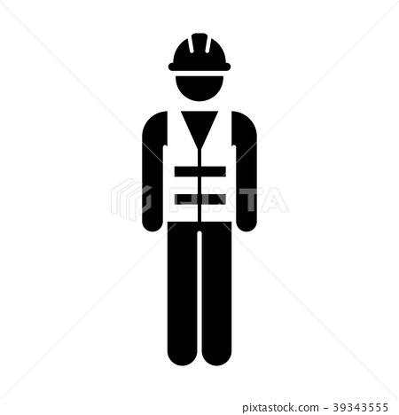 Worker Icon Vector Male Service Person of Building 39343555