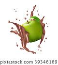 Green Apple Fruit Milk Chocolate Juice Yogurt   39346169