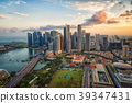view of Singapore business district and city 39347431