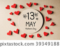 13 May Mothers Day message with small hearts 39349188