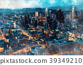 Aerial view sketch of Downtown Los Angeles 39349210