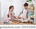 kitchen, child, preparing 39355006