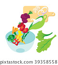 cooking salad illustration. collection background 39358558