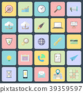 Vector simple flat design icons. 39359597