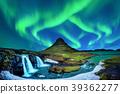 aurora, borealis, mountain 39362277