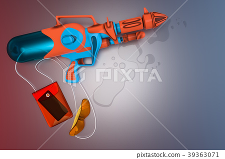 top view of a water gun with a yellow glasses 39363071