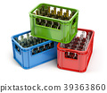 Empty bottles  in the strage crate for bottles 39363860