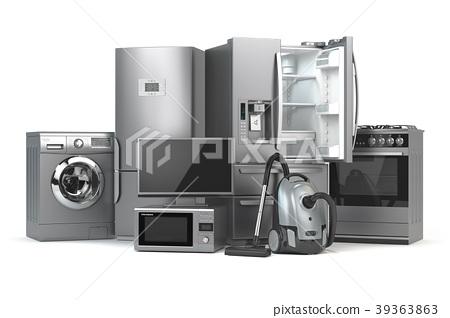 Home appliances. Set of household kitchen technics 39363863