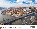 Aerial iew of the historic city of Porto, Dom Luiz 39363903