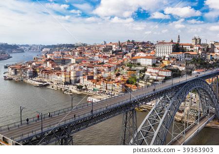 Aerial iew of the historic city of Porto, Dom Luiz 39363903