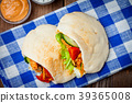 pita meat bread 39365008