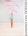 gymnast with ribbon 39365063