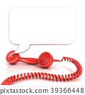 Red old fashion telephone handsets 39366448