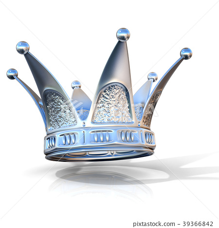 Silver crown isolated on a white background 39366842