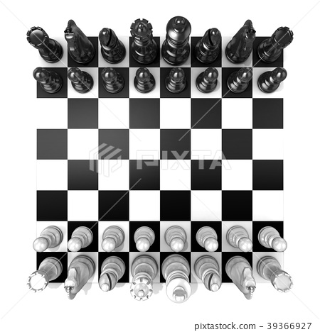 Chess Board with all chess pieces 39366927