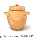 Clay pot with lid. 3D 39366985