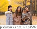 享受秋天假期的父母和孩子 39374592