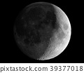 Waxing crescent moon seen with telescope 39377018
