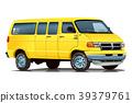 美國汽車范黃色 39379761
