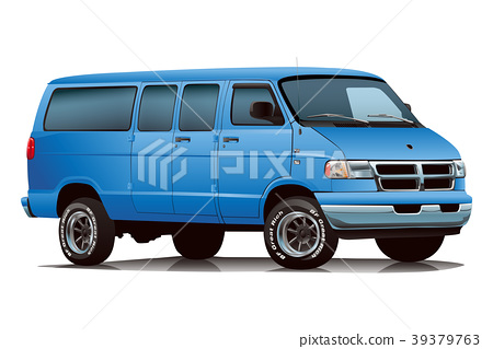 美國汽車范藍色 39379763