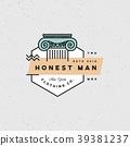 honest man clothing company label. vector 39381237