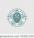 honest man clothing company label. vector 39381240