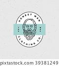 honest man clothing company label. vector 39381249