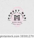 honest man clothing company label. vector 39381270