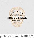 honest man clothing company label. vector 39381275