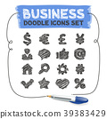 Business Doodle Icons Set 39383429