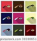 Type of eye makeup. Cat Eyeliner Tutorial. Stylish 39390651