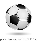 Soccer ball on white background. 39391117