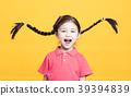 Closeup portrait of cute little girl having fun 39394839