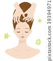Beauty Woman Head Spa Scalp Massage 39394971