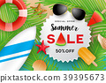 Summer sale banner background design 39395673