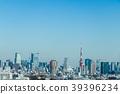 도쿄 시부야에서 고층 빌딩을 원하는 Overlooking the Tokyo from Shibuya 39396234