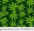 Marijuana leaves seamless vector pattern. 39396525