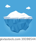 Iceberg with above and underwater view 39396544