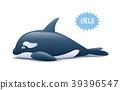 Cute Orca killer whale. Vector illustration 39396547