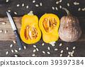 orange seed pumpkin 39397384
