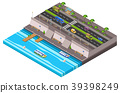 city riverside isometric 39398249