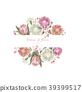 Vintage and luxurious floral vector greeting card  39399517