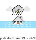 Rain, storm and flood , House flood 39399828