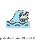 Tsunami, House flood, Natural disaster concept 39399831