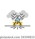 Thunder bolt, Lighting flash 39399833