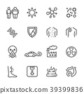 Cause of Cancer , Medical and healthcare icons set 39399836
