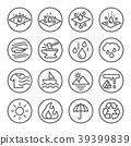 Open Cell Foam Properties , Vector icon set. 39399839