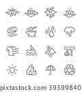 Cell Foam, Fabric Technology Properties Icons 39399840