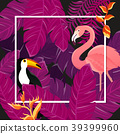 Tropical Background. Summer Design. Vector 39399960