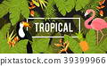 Tropical Background. Summer Design. Vector. 39399966